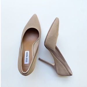 Steve Madden Clydee Taupe Two Tone Pointed Pumps